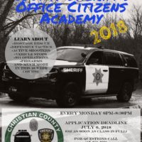 2018 Christian County Sheriff's Office Citizens Academy